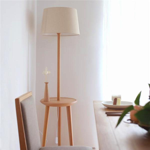 创意实木家具落地灯?图片
