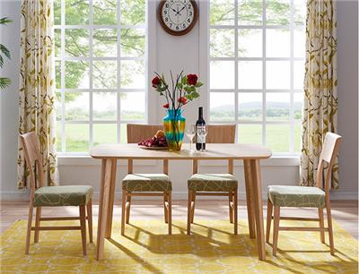 天圆地方实木家具方形餐桌