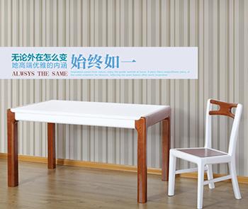 【光明家具】 龙8国际pt老虎机客户端餐桌 水曲柳餐桌椅 WX-74101