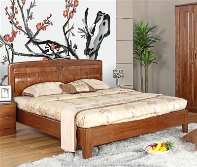 【光明家具】水曲柳实木床