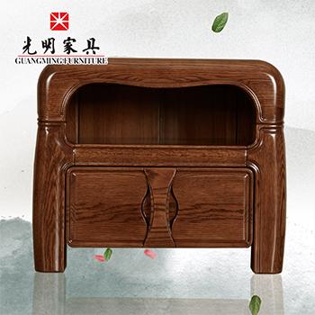 【光明家具】中式现代实木床头柜床边柜808- 1414-60