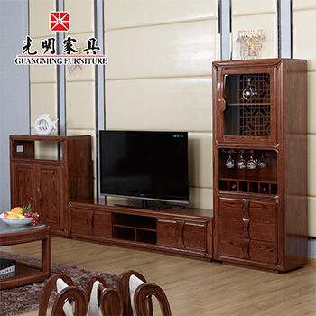 【光明亚博vip】进口红橡木全实木电视柜组合808-3614