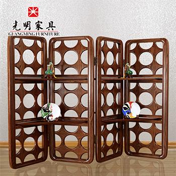 【亿博福彩app下载家具】中式现代全实木屏风隔断808-9211-256