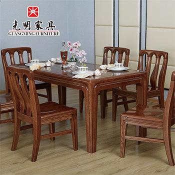 【光明亚博vip】中式现代全实木餐厅餐桌808-4111-160