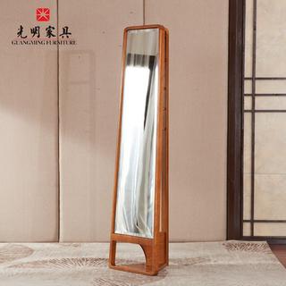 【光明家具】 实木穿衣镜 红橡木全身镜  118-26101-50