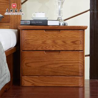 【光明家具】进口橡木床头柜 118-14101