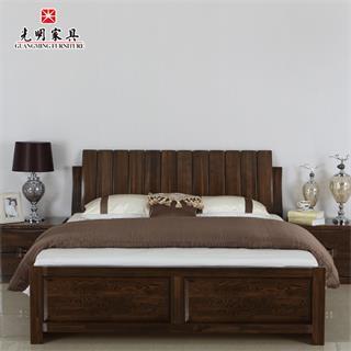 【光明亚博vip】现代中式卧室双人床085-1583
