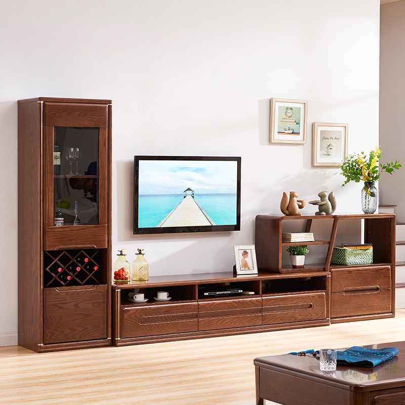 【亿博福彩app下载家具】进口红橡木组合厅柜158-36601-345